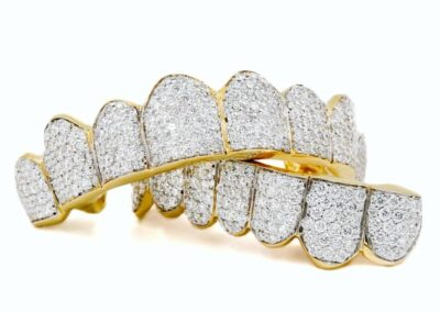 Iced Out Yellow  Gold w/ 2 point Diamonds